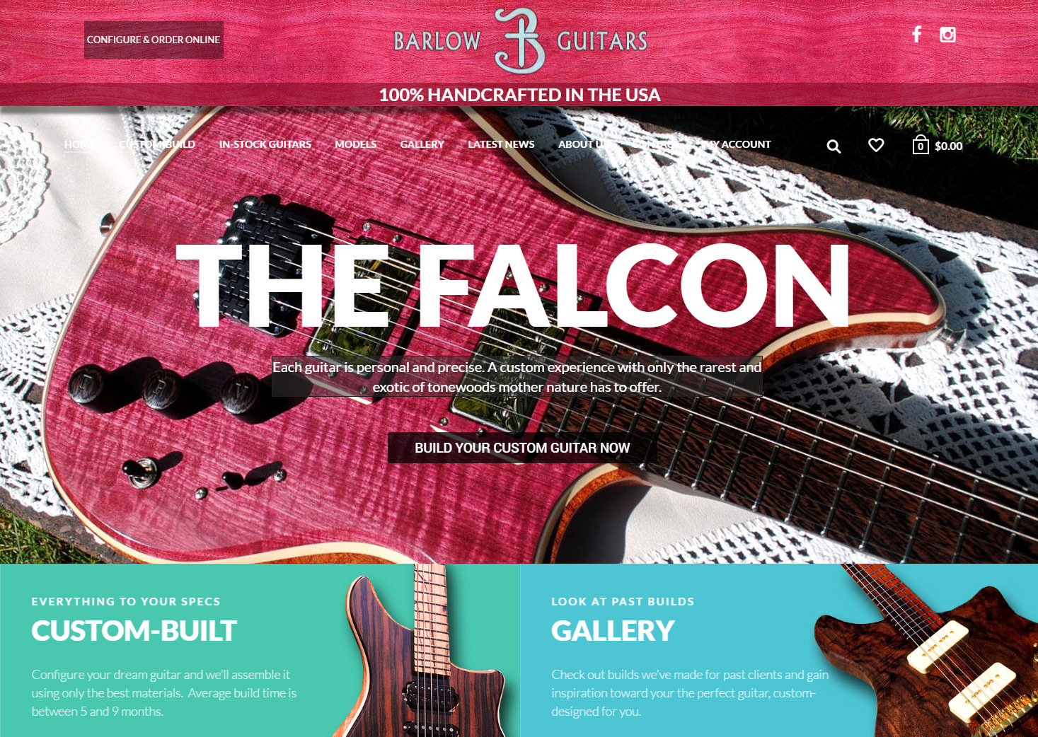 handcrafted boutique electric guitars rare and exotic tonewoods usa made barlow guitars. Black Bedroom Furniture Sets. Home Design Ideas